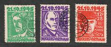 German Occ. Mecklenburg Sc#12nB1-12nB3, U/F-VF, Complete Set, Cv. $157.50