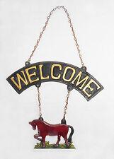 New Country Antique Colour Solid Cast Horse Welcome Sign Café Shop Home Decor