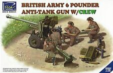 RIICh Models 1/35th Scale British Army 6 Pounder Anti-Tank Gun w/Crew #RV35042