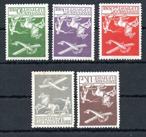 DENMARK , 1925 / 1929 , scarce AIRMAIL stamp sets  10 ÖRE - 1 KR , MH !