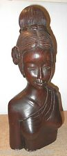 Hand Carved Wood Indonesian Bali Princess Sculpture Art Woodcraft One of a Kind!