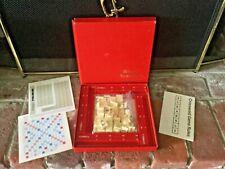 VTG 1976 Deluxe Scrabble Scoring Racks Tiles Instructions Score Pads Paper Board