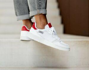 adidas Originals Supercourt White Scarlet Suede & Mesh Shoes Sneaker New EF5881
