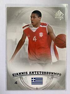 2013-14 SP Authentic Giannis Antetokounmpo Rookie