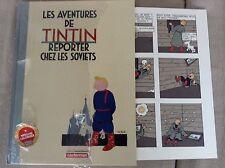 TINTIN chez les Soviets  livre Neuf 50000 exemplaires avec planche collector
