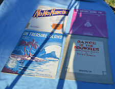 Four Sheet Music sets includes On Treasure Island and No No Nanette from1930's