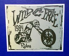 "Sticker Aufkleber Matt-Optik ""Wild & Free Riders"" Laptop, Notebook, Stickerbomb"