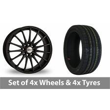 "4 x 17"" Calibre Rapide Matt Black Alloy Wheel Rims and Tyres -  205/40/17"