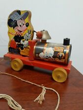 Vintage Mickey Mouse Choo Choo Train By Fisher Price Toys No. 485