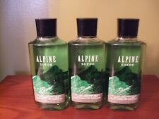 3 BATH AND BODY WORKS 2-IN-1 BODY WASH ALPINE SUEDE  FOR MEN- NEW