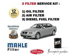 FOR BMW 525D 530D DIESEL 2003->NEW  SERVICE KIT OIL AIR FUEL  ( 3 ) FILTER KIT