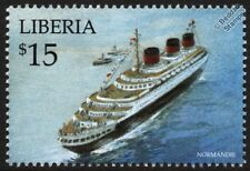 SS NORMANDIE (CGT French Line) Ocean Liner / Passenger Cruise Ship Stamp