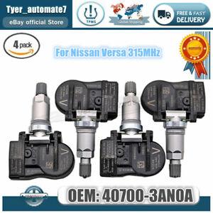 4PCS PRO TIRE PRESSURE SENSOR TPMS OEM 40700 3AN0A For Nissan Versa 315MHz