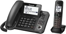 Panasonic KX-TGF380M Bluetooth Cordless Phone Black LINK-2-CELL W/BABY MONITOR