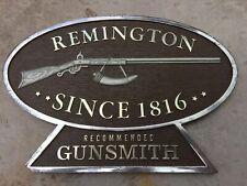 Rare Vintage Remington Gunsmith Gun Service Sign Remington Hi Standard