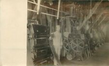 C-1910 Occupation Worker factory Industry Machinery interior RPPC 4002
