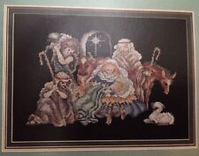 Vintage Humble Stable Nativity COUNTED CROSS STITCH STONEY CREEK Christmas
