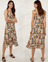 WAREHOUSE New Daisy Floral Print Button Through Cami Midi Dress