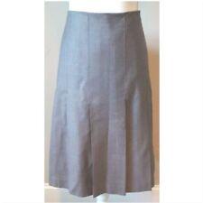 NWOT Banana Republic Grey Wool  Pleated Lined Skirt Sz XL 16 Career Flattering