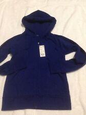 NWT Uniqlo Women's Sweat Long Sleeve Full Zip Hoodie Blue Sz S
