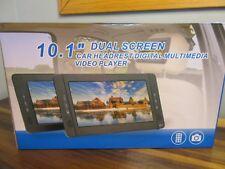 "NAVISKAUTO Car Headrest Portable DVD Multimedia Player Dual Screen 10.1"" Remote"