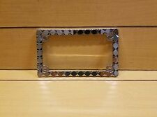 DIAMOND CHROME LICENSE PLATE FRAME FOR MOTORCYCLE