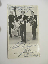 Autographed Flyers/Postcards Music Memorabilia (1960s)
