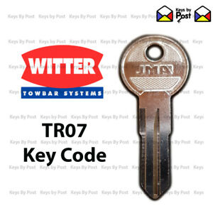 WITTER Towbar key TR07, TR7 for detachable towbars. Fast shipping!