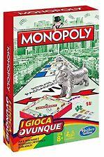MONOPOLY TRAVEL B1002103 Hasbro -nuovo-Italia