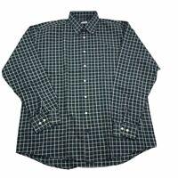 Bullock & Jones Men's Long Sleeve Button Down Shirt Black White Check XL EUC