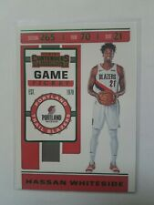 New listing Hassan Whiteside 2019-20 Panini Contenders Game Ticket Green #36 Trail Blazers
