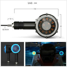 1 Pair 12V Dual Color Turbine Flowing LED Motorcycle Modified Turn Signal Lamps