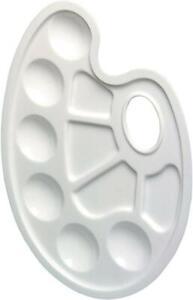 Herlitz Mischpalette mit Griffloch Kunststoff Oval 6 Farbfelder 4 Mischfelder