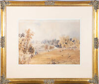 Early 19th Century Watercolour - View Over The Manor Grounds