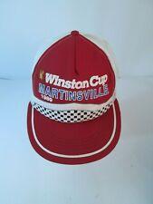 Vintage 1989 Snapback Trucker Hat Cap WINSTON CUP Martinsville  NASCAR Red  USA