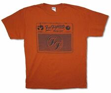 Foo Fighters Wasting Light Amplifier Logo Orange T Shirt New Official