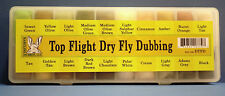 Top Flight DRY FLY 20 Farben Dubbing Dispenser Hareline Dry Flight 20 Dub Box