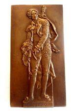 BRONZE MEDAL / FIGARO - FRENCH ART MEDAL OFFERT PAR LE FIGARO 40 x 74 mm / N133