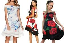 Polyester Party/Cocktail Machine Washable Floral Dresses for Women