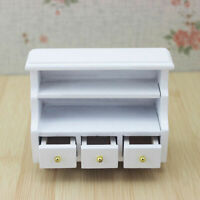 Doll House Miniature Wooden Toilet BATHROOM SHELF drawer Cabinet furniture