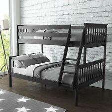 Oxford Triple Bunk Bed Sleeper in Dark Grey - Small Double Bedroom Furniture