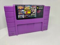 Super 120 in 1 Nintendo SNES Game Cartridge 16-Bit Multicart NTSC Free Shipping