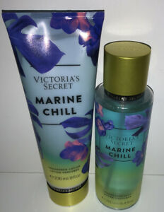 New Victoria's Secret Marine Chill Fragrance Mist & Body Lotion 2 Piece Set
