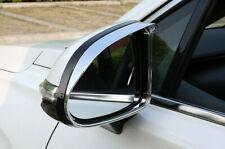 Chrome Side Door Mirror Eyebrow Frame Cover Trim 2pcs For Hyundai Santa Fe 2019