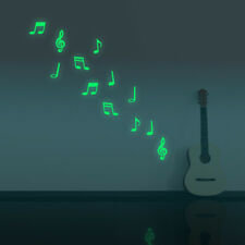 Music Note Luminous Decal Home Room Decor Art Vinyl Wall Sticker DIY Removable