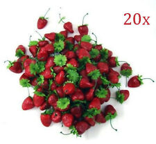 20x Artificial Strawberry Fruit House Party kitchen Decor Mini Fake US Free Ship