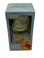 Disney Baby Like a Cloud Lamp Base & Shade Pooh Piglet Nursery Patchwork Wood