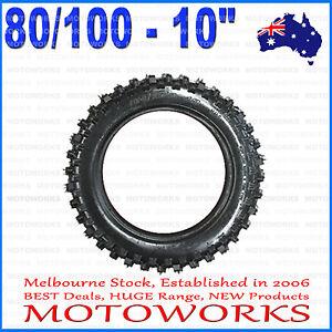 "3.00 - 10 80/100 - 10"" Inch Rear Tire 50cc 70cc 90cc 125cc PIT TRAIL Dirt Bike"