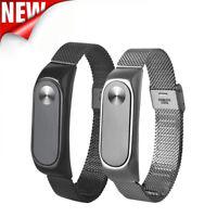 Fashion Lightweight Stainless Steel Smart Wrist Watch Strap For Xiaomi Miband 2