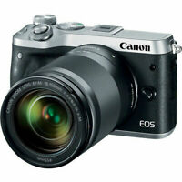 Canon EOS M6 Mirrorless Digital Camera - Silver with 18-150mm Lens